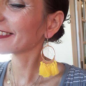 Awesome Yellow & Gold Summer Earrings